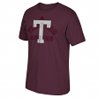 "Texas A&M Aggies Adidas NCAA ""Raised Edges"" Men's Short Sleeve T-Shirt"