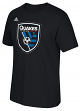 "San Jose Earthquakes Adidas MLS ""Logo Set"" Men's Short Sleeve T-Shirt"