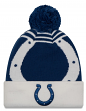 "Indianapolis Colts New Era NFL ""Logo Whiz 2"" Cuffed Knit Hat with Pom"