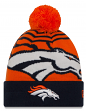 "Denver Broncos New Era NFL ""Logo Whiz 2"" Cuffed Knit Hat with Pom"
