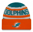 "Miami Dolphins New Era NFL ""Biggest Fan 2.0"" Cuffed Knit Hat"