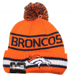 "Denver Broncos New Era NFL ""Vintage Select"" Cuffed Knit Hat with Pom"