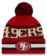 "San Francisco 49ers New Era NFL ""Vintage Select"" Cuffed Knit Hat with Pom"