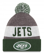 New York Jets New Era 2016 NFL Sideline On Field Sport Knit Hat - Green Cuff