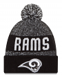 Los Angeles Rams New Era 2016 NFL Sideline Sport Knit Hat - Black/White