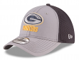 """Green Bay Packers New Era NFL 39THIRTY """"Grayed Out Neo 2"""" Flex Fit Hat"""