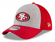 "San Francisco 49ers New Era NFL 39THIRTY ""Heathered Gray Neo"" Flex Fit Hat"