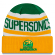 "Seattle Supersonics New Era Hardwood Classics ""Biggest Fan 2.0"" Cuffed Knit Hat"