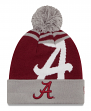 "Alabama Crimson Tide New Era NCAA ""Logo Whiz 2"" Cuffed Knit Hat with Pom"