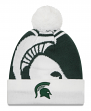 "Michigan State Spartans New Era NCAA ""Logo Whiz 2"" Cuffed Knit Hat with Pom"