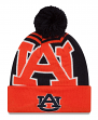 "Auburn Tigers New Era NCAA ""Logo Whiz 2"" Cuffed Knit Hat with Pom"