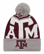 "Texas A&M Aggies New Era NCAA ""Logo Whiz 2"" Cuffed Knit Hat with Pom"