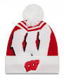 "Wisconsin Badgers New Era NCAA ""Logo Whiz 2"" Cuffed Knit Hat with Pom"