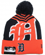"Detroit Tigers New Era MLB ""Logo Whiz 2"" Cuffed Knit Hat with Pom"