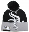 "Chicago White Sox New Era MLB ""Logo Whiz 2"" Cuffed Knit Hat with Pom"