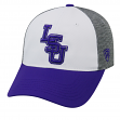 "LSU Tigers NCAA Top of the World ""Hustle"" Stretch Fit Performance Hat"