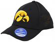 "Iowa Hawkeyes NCAA TOW ""Rails Black"" Stretch Fit Performance Mesh Hat"