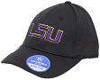 "LSU Tigers NCAA TOW ""Rails Black"" Stretch Fit Performance Mesh Hat"