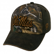 "Mississippi Ole Miss Rebels NCAA TOW ""Driftwood"" RealTree Camo Adjustable Hat"