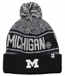 "Michigan Wolverines NCAA Top of the World ""Acid Rain"" Striped Cuffed Knit Hat"
