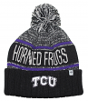 "TCU Horned Frogs NCAA Top of the World ""Acid Rain"" Striped Cuffed Knit Hat"