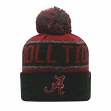"Alabama Crimson Tide NCAA Top of the World ""Below Zero"" Striped Cuffed Knit Hat"