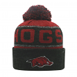 "Arkansas Razorbacks NCAA Top of the World ""Below Zero"" Striped Cuffed Knit Hat"