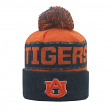 "Auburn Tigers NCAA Top of the World ""Below Zero"" Striped Cuffed Knit Hat"