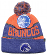 """Boise State Broncos NCAA Top of the World """"Below Zero"""" Striped Cuffed Knit Hat"""