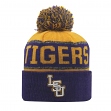"LSU Tigers NCAA Top of the World ""Below Zero"" Striped Cuffed Knit Hat"
