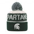 "Michigan State Spartans NCAA TOW ""Below Zero"" Striped Cuffed Knit Hat"