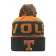 "Tennessee Volunteers NCAA Top of the World ""Below Zero"" Striped Cuffed Knit Hat"