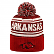 "Arkansas Razorbacks NCAA Top of the World ""Driven"" Striped Cuffed Knit Hat"