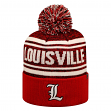 """Louisville Cardinals NCAA Top of the World """"Driven"""" Striped Cuffed Knit Hat"""
