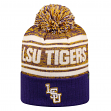 "LSU Tigers NCAA Top of the World ""Driven"" Striped Cuffed Knit Hat"