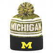 "Michigan Wolverines NCAA Top of the World ""Driven"" Striped Cuffed Knit Hat"