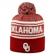 """Oklahoma Sooners NCAA Top of the World """"Driven"""" Striped Cuffed Knit Hat"""
