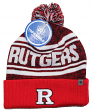"""Rutgers Scarlet Knights NCAA Top of the World """"Driven"""" Striped Cuffed Knit Hat"""