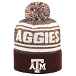 "Texas A&M Aggies NCAA Top of the World ""Driven"" Striped Cuffed Knit Hat"