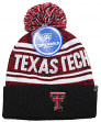 "Texas Tech Red Raiders NCAA Top of the World ""Driven"" Striped Cuffed Knit Hat"