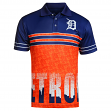 "Detroit Tigers MLB ""Wordmark Skyline"" Men's Sublimated Polo Shirt"