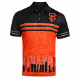 "San Francisco Giants MLB ""Wordmark Skyline"" Men's Sublimated Polo Shirt"