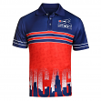 "Chicago White Sox MLB ""Wordmark Skyline"" Men's Retro Sublimated Polo Shirt"