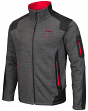 "Texas Tech Red Raiders NCAA ""Coverage 2"" F/Z Premium Men's Jacket - Charcoal"