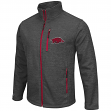 "Arkansas Razorbacks NCAA ""Backfield 2"" Full Zip Men's Heather Charcoal Jacket"