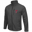 "Texas Tech Red Raiders NCAA ""Backfield 2"" Full Zip Men's Heather Charcoal Jacket"