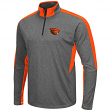 "Oregon State Beavers NCAA ""Atlas"" 1/4 Zip Pullover Men's Charcoal Wind Shirt"