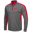 "Rutgers Scarlet Knights NCAA ""Atlas"" 1/4 Zip Pullover Men's Charcoal Wind Shirt"