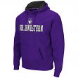 "Northwestern Wildcats NCAA ""Zone II"" Pullover Hooded Men's Sweatshirt - Purple"