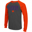 "Clemson Tigers NCAA ""Olympus"" Long Sleeve Raglan Shirt - Charcoal"